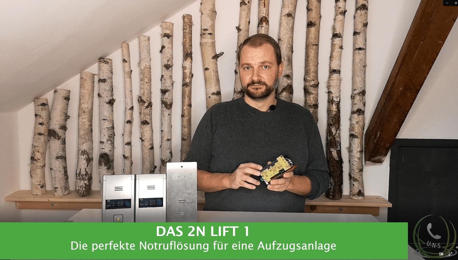 Martin Reichl präsentiert das 2N Lift 1.